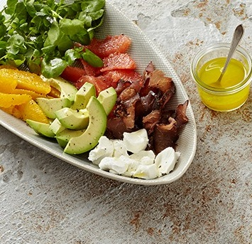 Avo and citrus salad