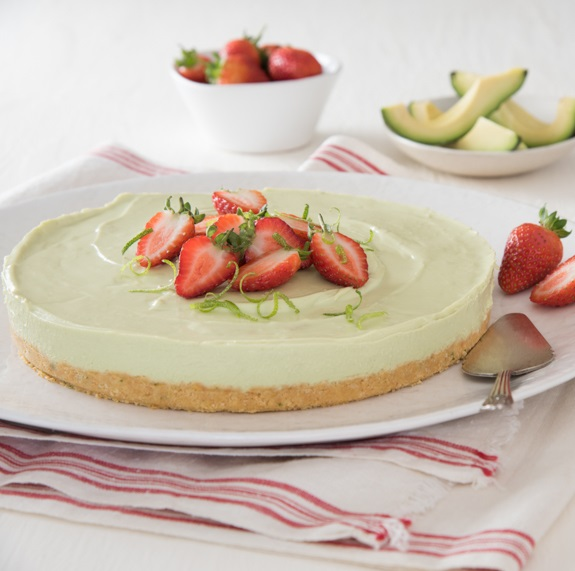 Avo and lime cheesecake