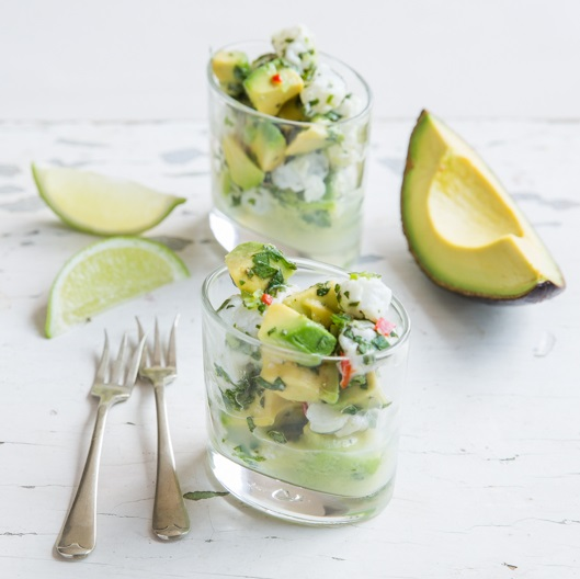 Ceviche with avo