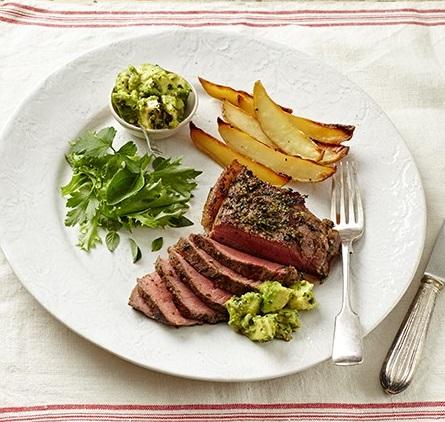 Chili and herb steak
