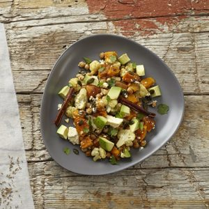 Roasted butternut and cauliflower